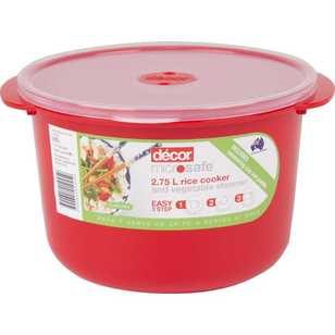 Decor Microsafe Rice Cooker & Vegetable Steamer 2.75 L