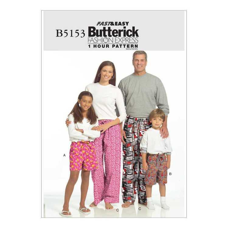 Butterick Pattern B5153 Teens' & Kids'  Shorts & Pants