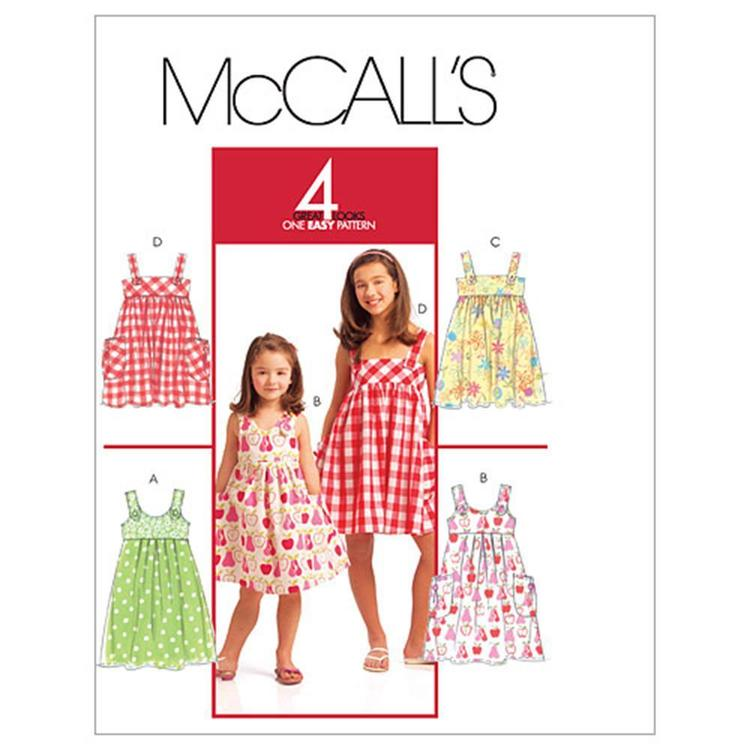McCall's Pattern M5613 Girls' Dresses
