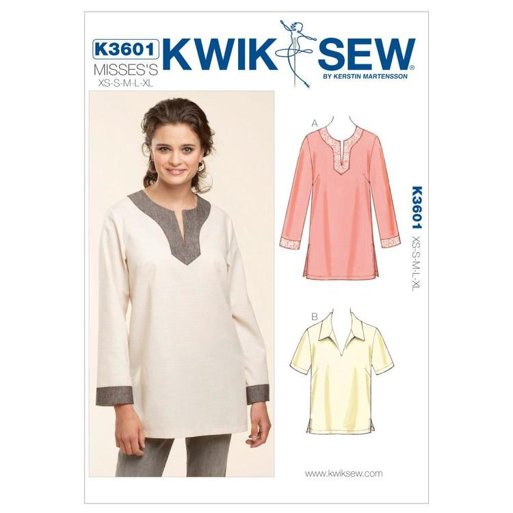 Kwik Sew Pattern K3601 Pull-Over Tops