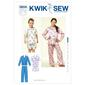 Kwik Sew K3604 Boys' & Girls' Pajamas  X Small - X Large