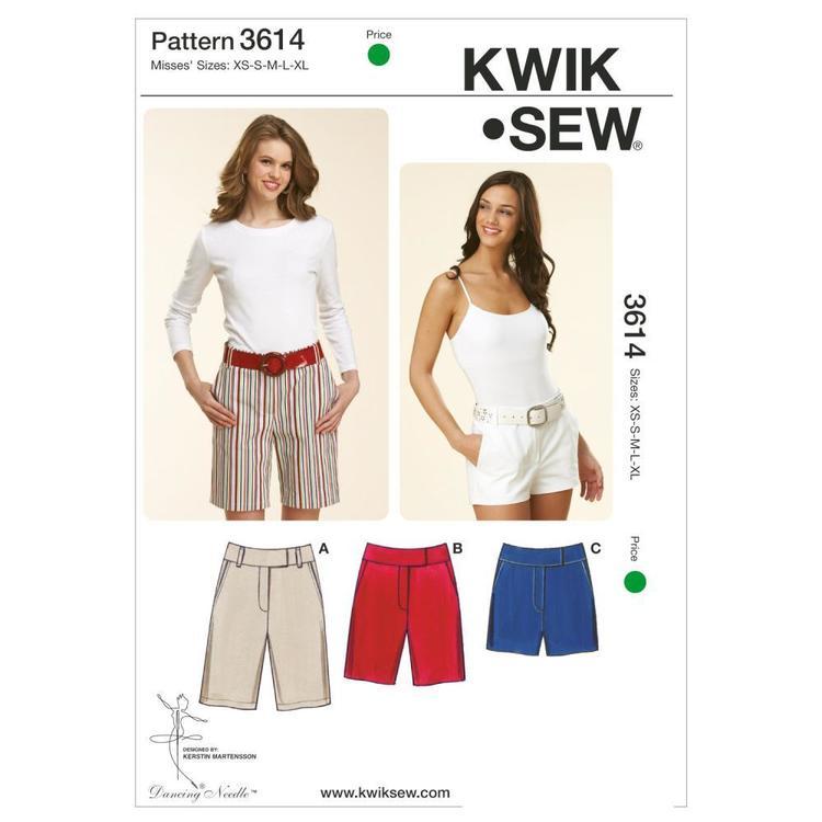 Kwik Sew Pattern K3614 Fitted Shorts