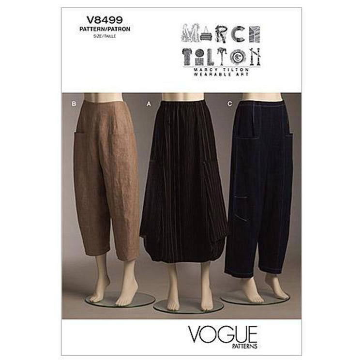 Vogue Pattern V8499 Misses' Skirt & Pants