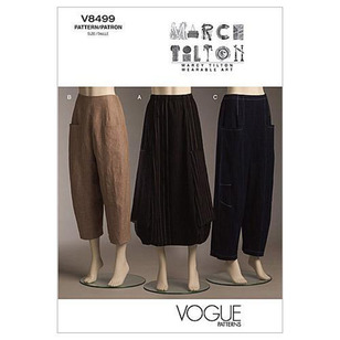 Vogue Pattern V8499 Misses' Skirt & Pants