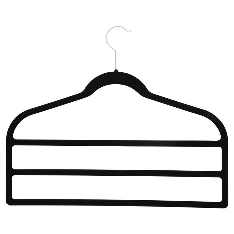 L.T. Williams Trouser Hanger 3 Tier 2 Pack Black