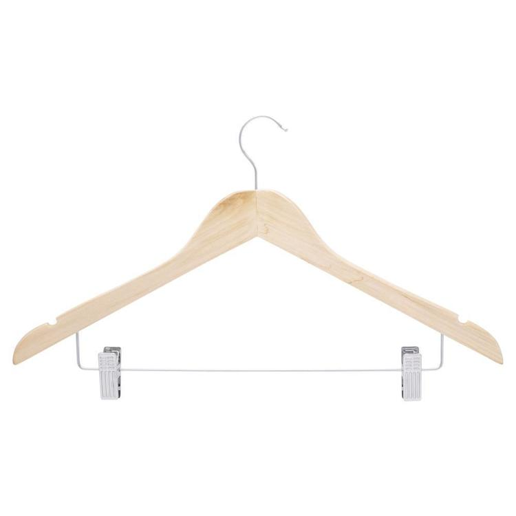 L.T. Williams Wooden Hangers 4 Pack Natural