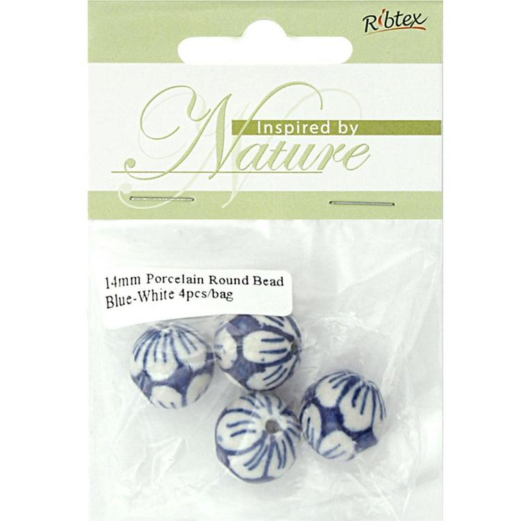 Ribtex Inspired by Nature Large Round Porcelain Beads