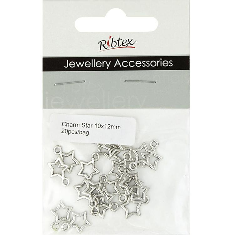 Ribtex Jewellery Accessories Star Charms Silver