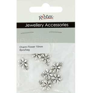 Ribtex Jewellery Accessories 6 Petals Flower Charms