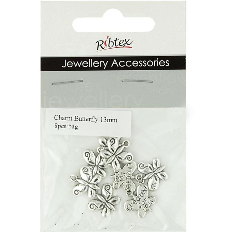 Ribtex Jewellery Accessories Butterfly Charms 8 Pack