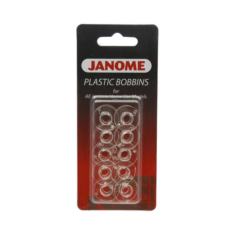 Janome 10 Pack Plastic Bobbins