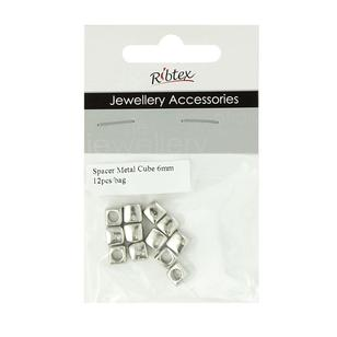 Ribtex Jewellery Accessories Cube Metal Spacers