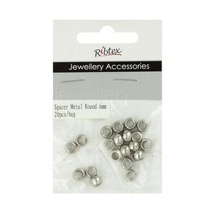 Ribtex Jewellery Accessories Small Round Metal Spacers