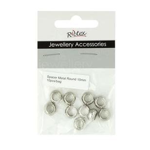 Ribtex Jewellery Accessories Large Round Metal Spacers