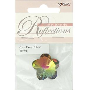 Ribtex Reflections Flower Glass Bead