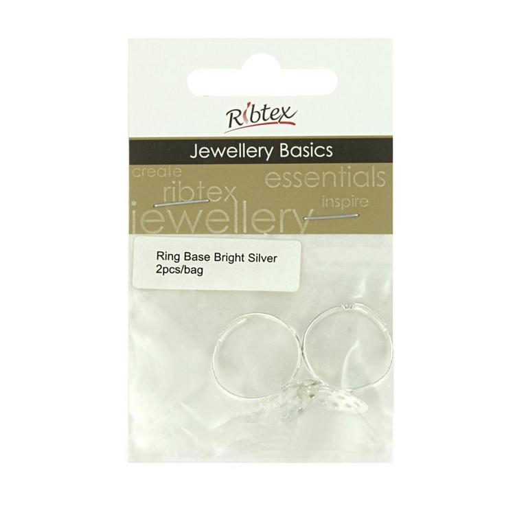 Ribtex Jewellery Basics Adjustable Round Ring Bases