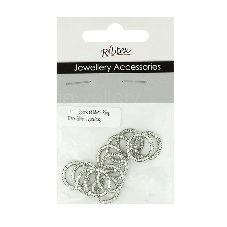 Ribtex Jewellery Accessories Speckled Metal Ring Silver 14 mm