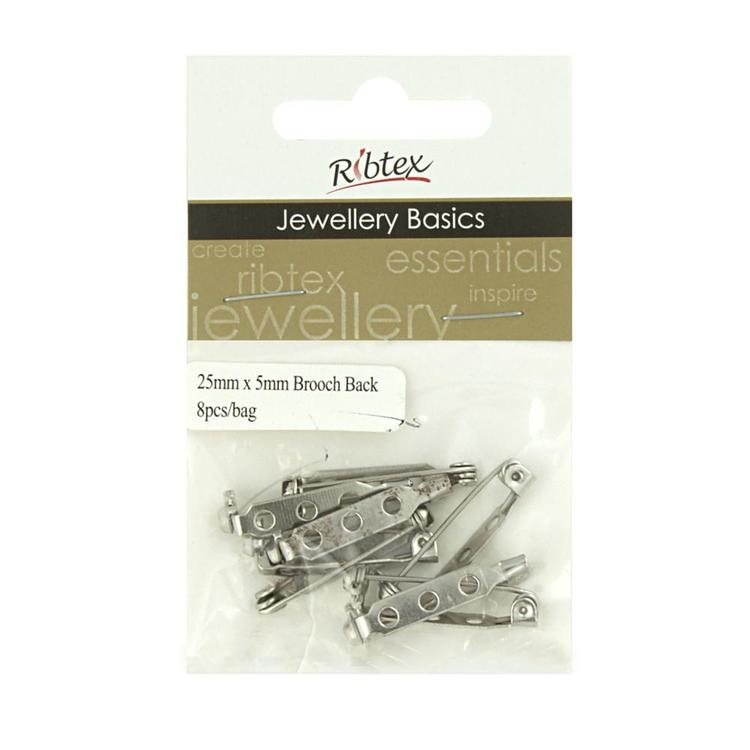 Ribtex Jewellery Basics Brooch Back Antique Silver 25 mm