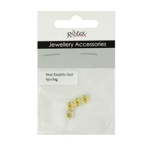 Ribtex Jewellery Accessories Gold Rondelle Spacer
