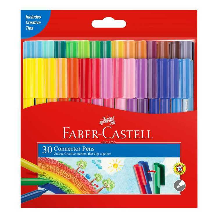 Faber Castell Connector Pens 30 Pack
