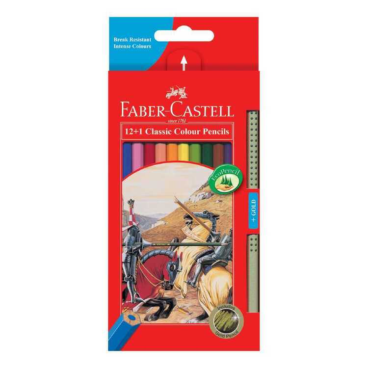 Faber Castell Classic Colour Pencils 12 Pack