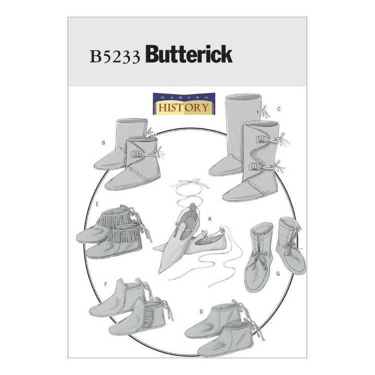 Butterick Pattern B5233 Historical Footwear