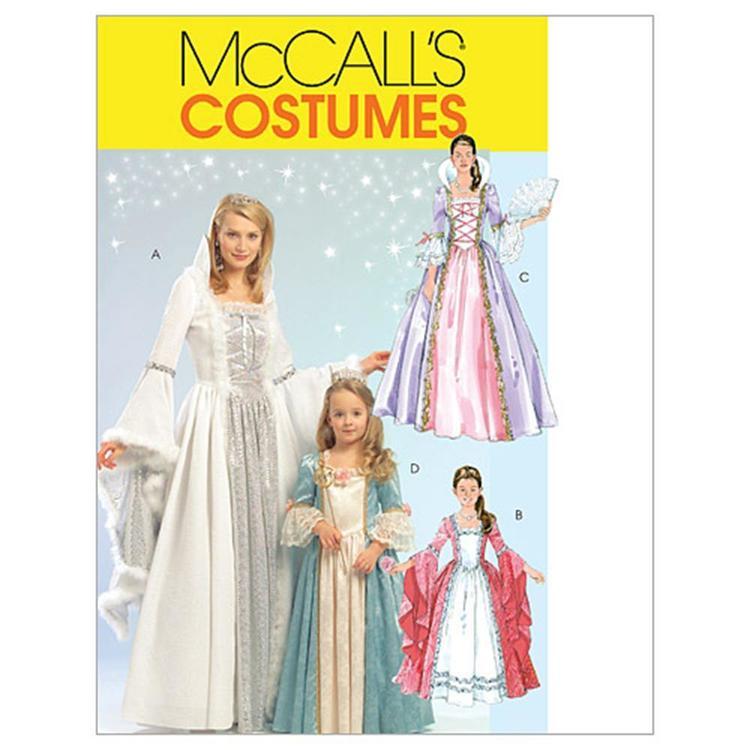 McCall's Pattern M5731 Girls' Princess Costumes