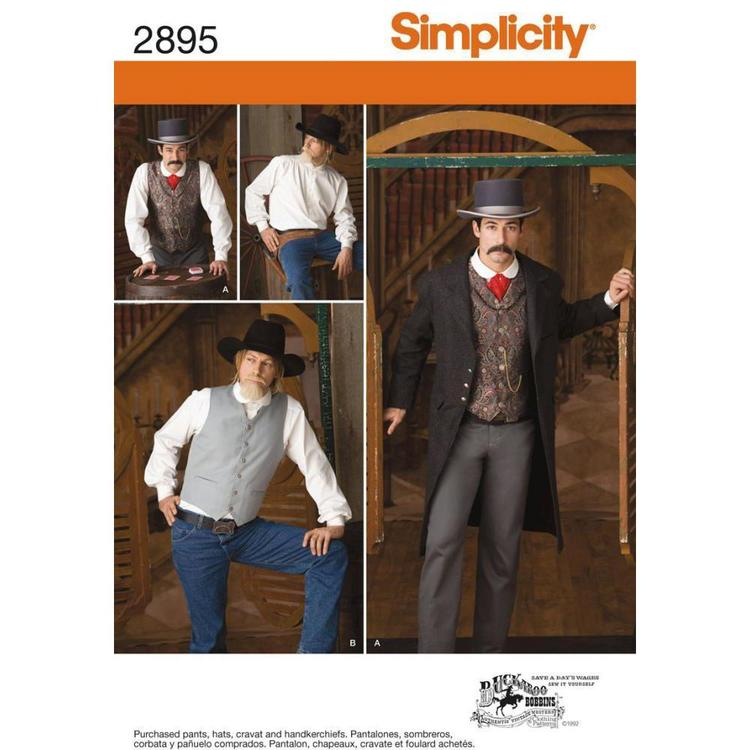 Simplicity Pattern 2895 Men's Costume