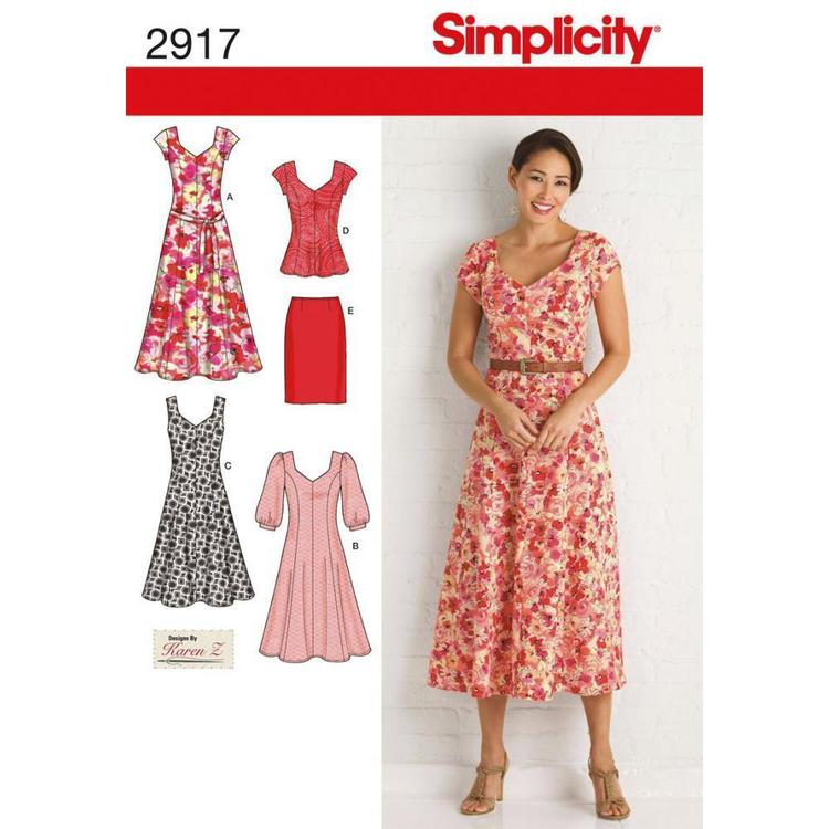 Simplicity Pattern 2917 Women's Dress