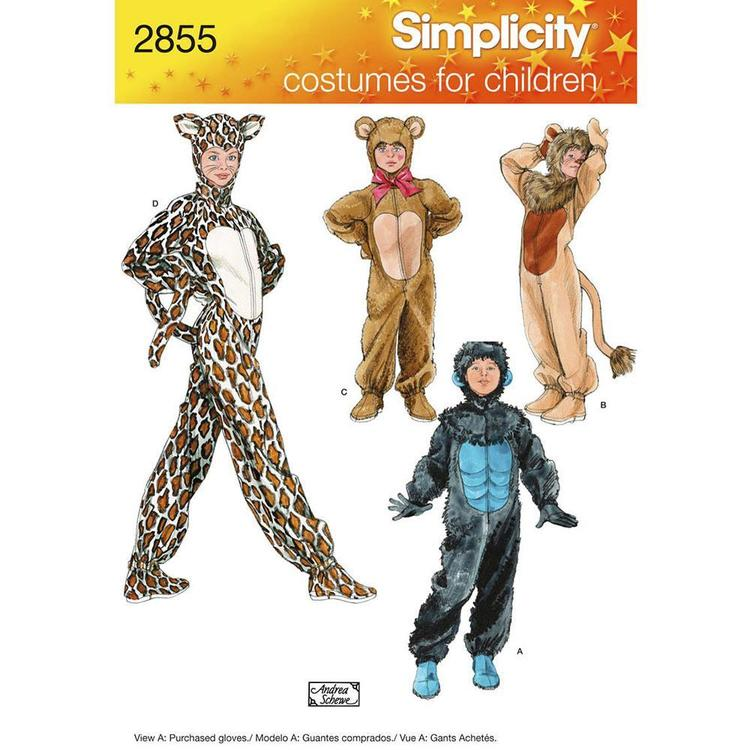 Simplicity 2855 Kid's Costumes  X Small - Large