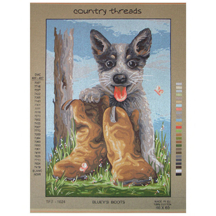 Country Threads Australian Blueys Boots Tapestry