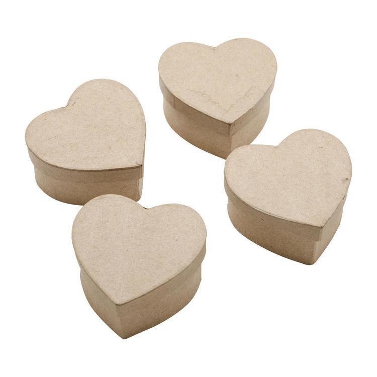 Shamrock Craft Papier Mache Mini Box With Heart