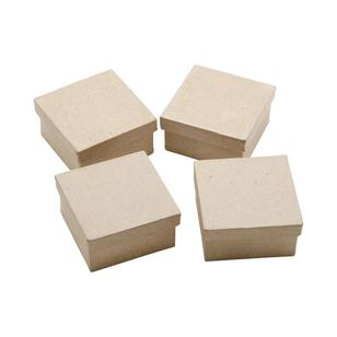 Shamrock Craft Papier Mache Mini Square Box