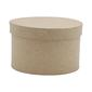 Shamrock Craft Papier Mache Round Box Natural