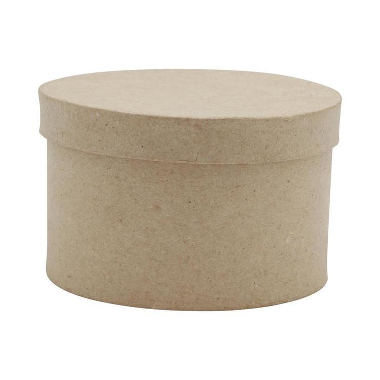 Shamrock Craft Papier Mache Round Box