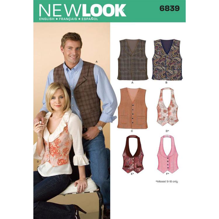 New Look Pattern 6839 Unisex Coordinates