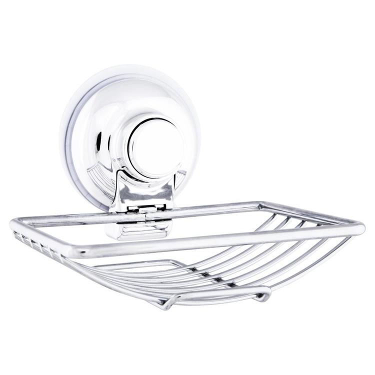 Naleon Classic Super Suction Wire Soap Dish Chrome