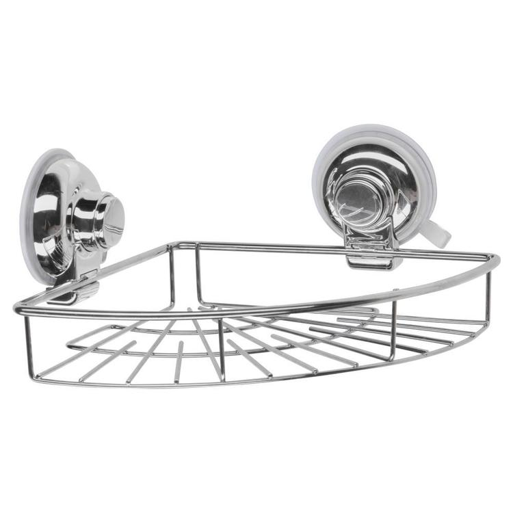 Naleon Classic Super Suction Chrome Corner Shelf Chrome