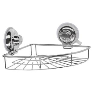 Naleon Classic Super Suction Chrome Corner Shelf