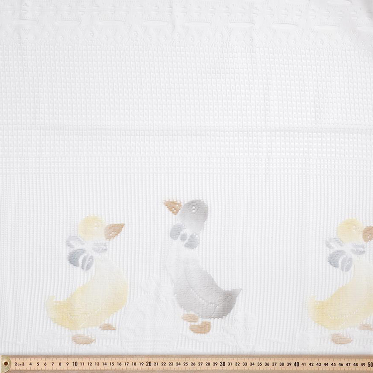 Filigree Della Duck Cafe Sheer White 90 cm