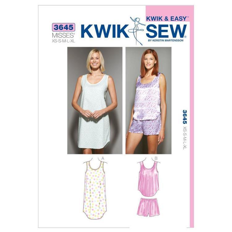 Kwik Sew Pattern K3645 Sleepwear