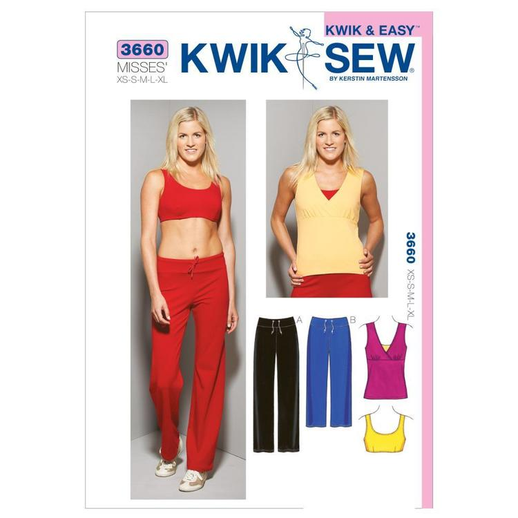 Kwik Sew Pattern K3660 Top Bra & Pants