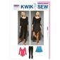 Kwik Sew K3661 Leotard Leggings & Skirt X Small - X Large