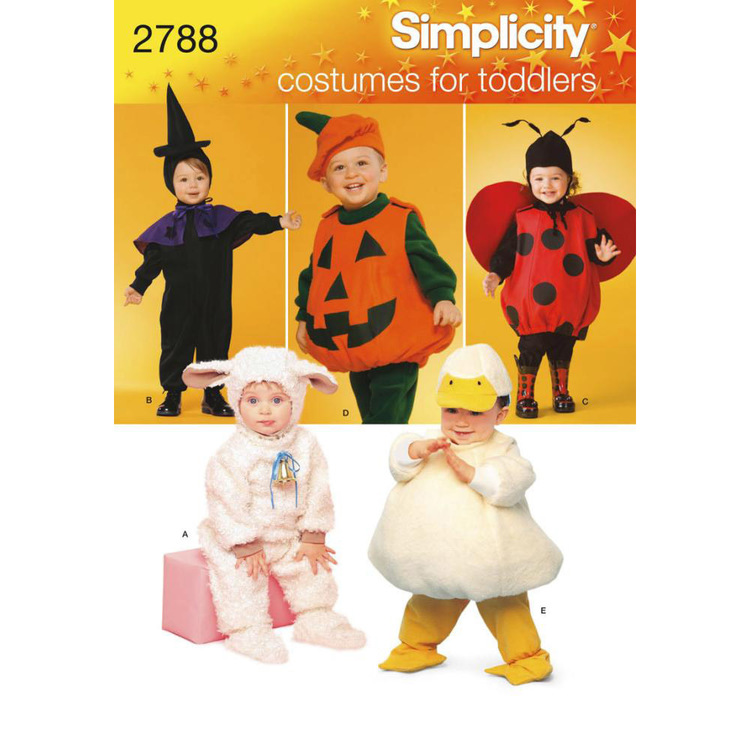 Simplicity 2788 Baby Costumes  6 Months - 4 Years