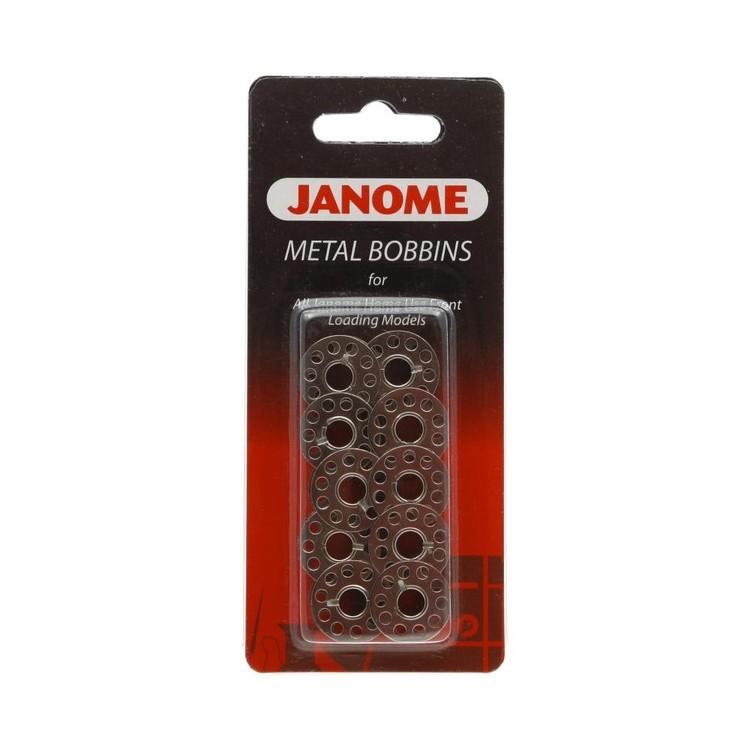 Janome 10 Pack Metal Bobbins