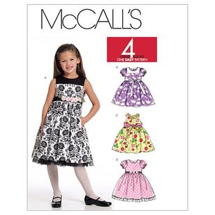 McCall's Pattern M5793 Girls' Lined Dresses