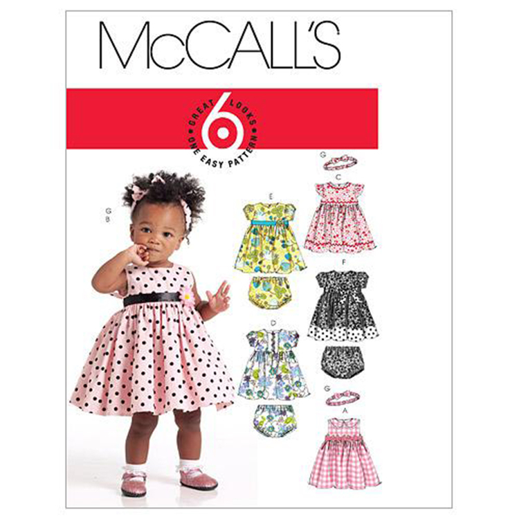 McCall's Pattern M5791 Infants' Lined Dresses Panties & Headband