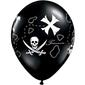 Qualatex Pirates Treasure Map Balloon Black