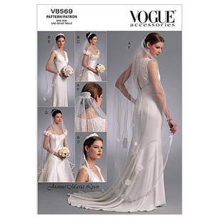 Vogue V8569 Headpieces Tiara & Bridal Veils