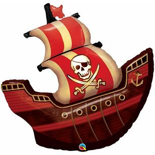 Qualatex Pirate Ship Foil Balloon